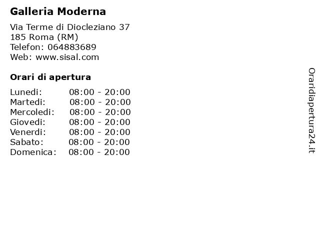 Galleria Moderna a Roma (RM): indirizzo e orari di apertura