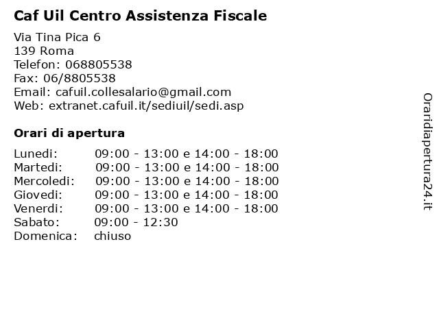 Caf Uil Centro Assistenza Fiscale a Roma: indirizzo e orari di apertura