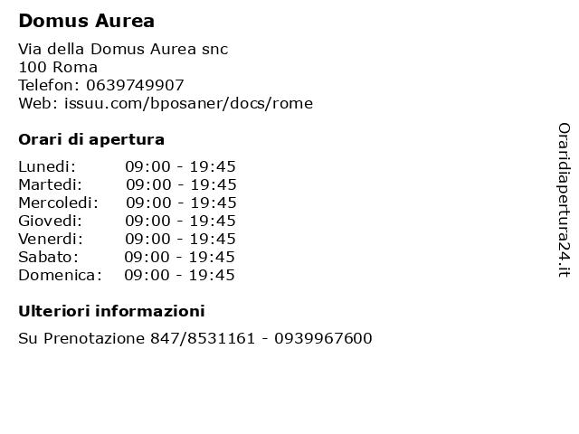 Domus Aurea a Roma: indirizzo e orari di apertura