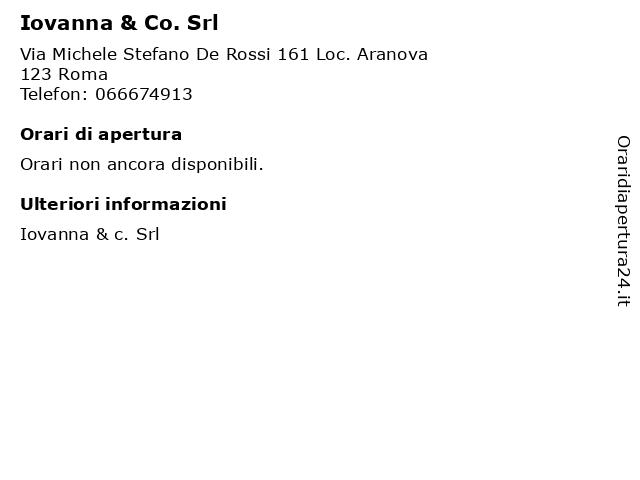 Iovanna & Co. Srl a Roma: indirizzo e orari di apertura