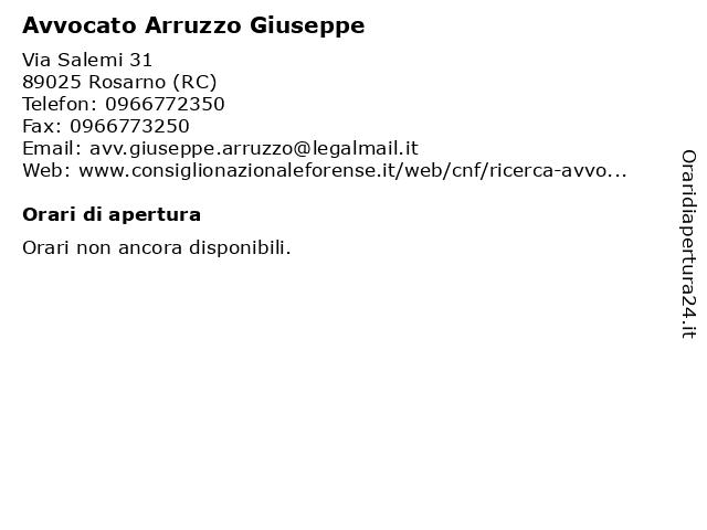 Avvocato Arruzzo Giuseppe a Rosarno (RC): indirizzo e orari di apertura