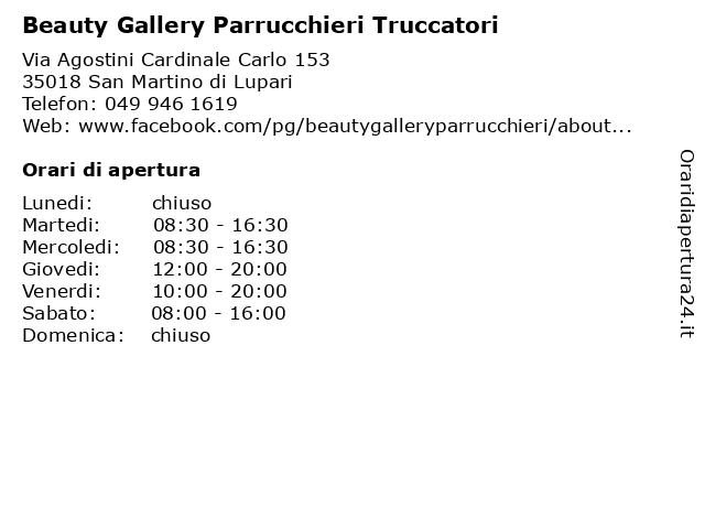 Beauty Gallery Parrucchieri Truccatori a San Martino di Lupari: indirizzo e orari di apertura