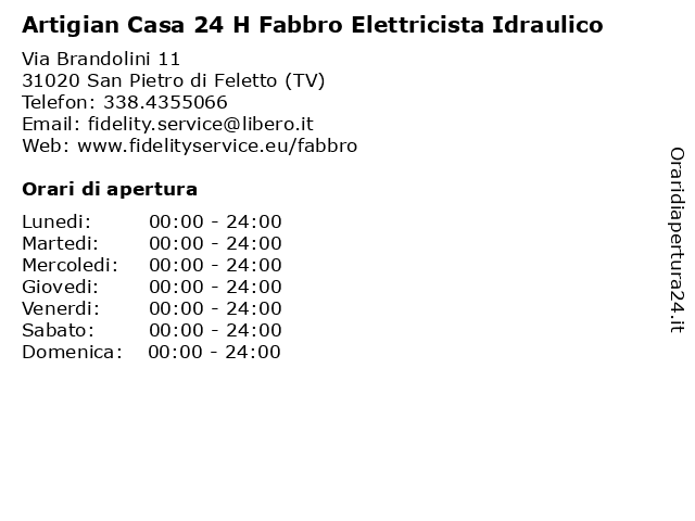Artigian Casa 24 H Fabbro Elettricista Idraulico a San Pietro di Feletto (TV): indirizzo e orari di apertura
