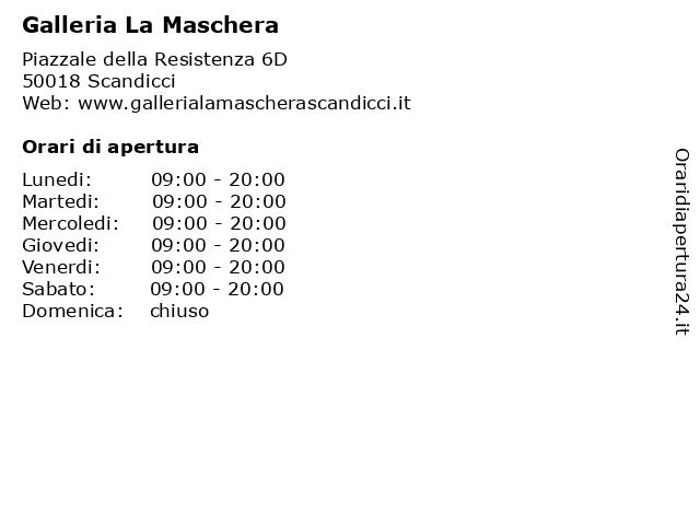Galleria La Maschera a Scandicci: indirizzo e orari di apertura