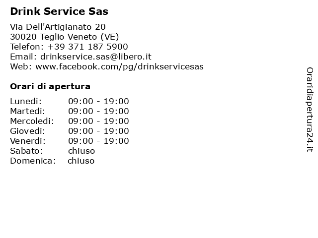 Drink Service Sas a Teglio Veneto (VE): indirizzo e orari di apertura