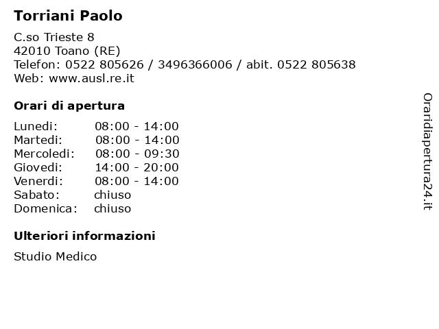 Torriani Paolo a Toano (RE): indirizzo e orari di apertura