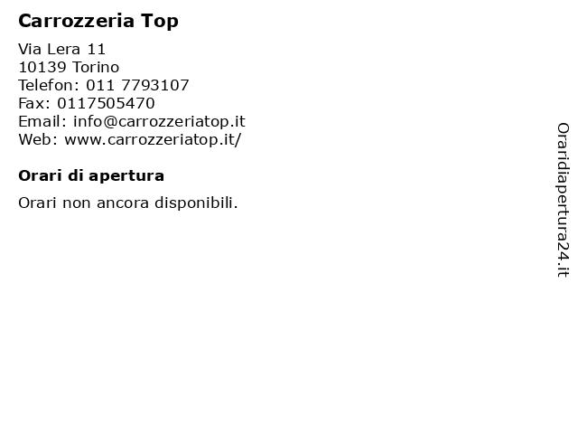 Carrozzeria Top a Torino: indirizzo e orari di apertura
