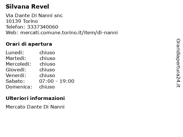 Silvana Revel a Torino: indirizzo e orari di apertura