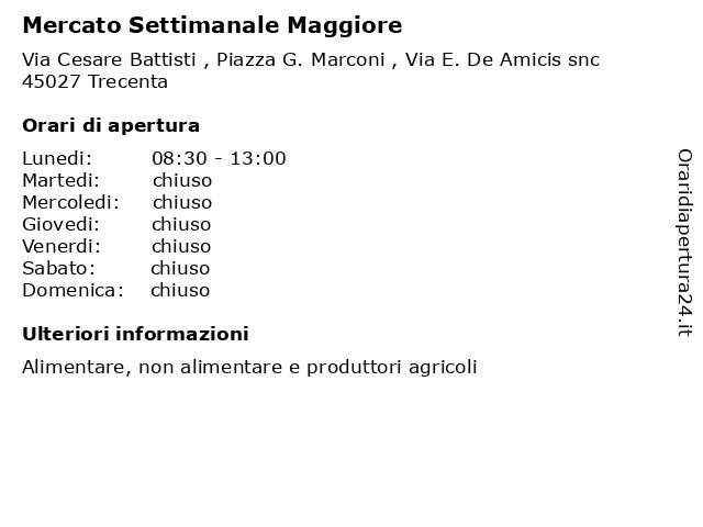Mercato Settimanale Maggiore a Trecenta: indirizzo e orari di apertura