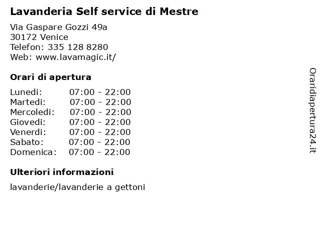 Lavanderia Self service di Mestre a Venice: indirizzo e orari di apertura