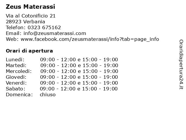 Materassi Verbania.ᐅ Orari Zeus Materassi Via Al Cotonificio 21 28923 Verbania