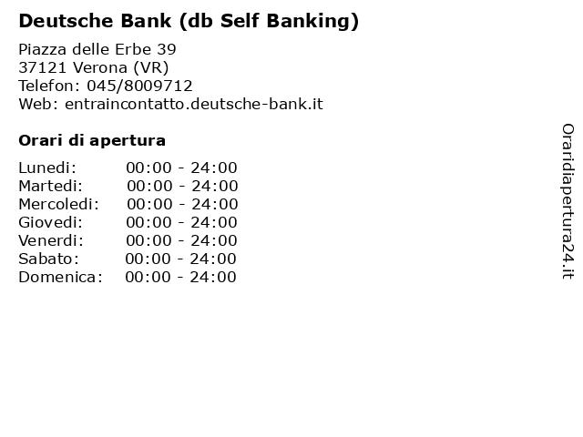 Deutsche Bank (db Self Banking) a Verona (VR): indirizzo e orari di apertura
