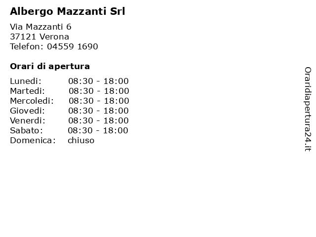 Albergo Mazzanti Srl a Verona: indirizzo e orari di apertura