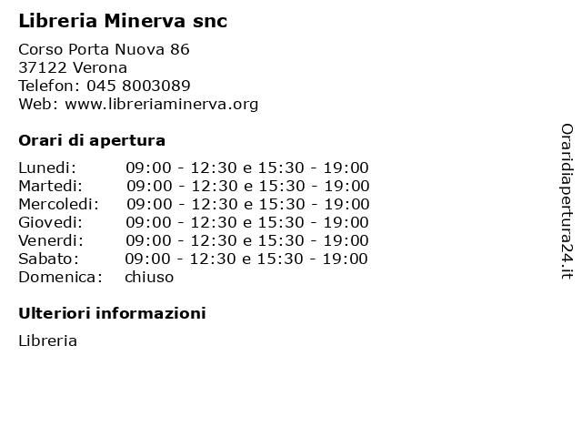 Libreria Minerva snc a Verona: indirizzo e orari di apertura