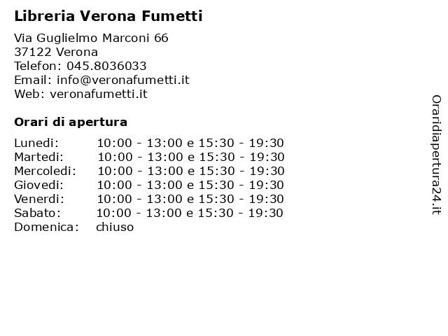 Libreria Verona Fumetti a Verona: indirizzo e orari di apertura