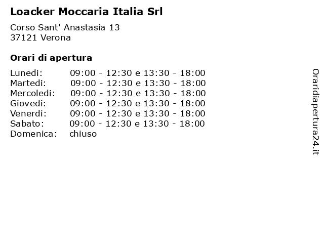 Loacker Moccaria Italia Srl a Verona: indirizzo e orari di apertura
