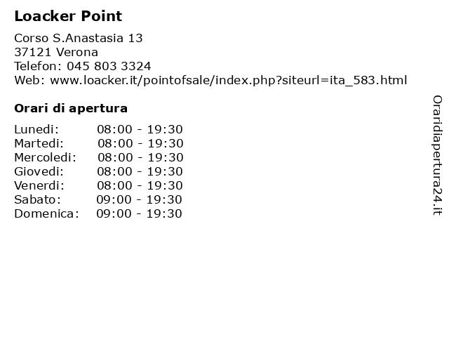 Loacker Point a Verona: indirizzo e orari di apertura