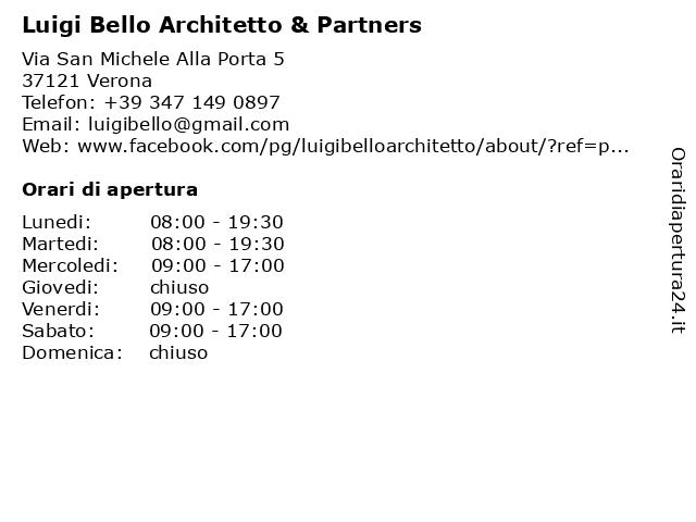 Luigi Bello Architetto & Partners a Verona: indirizzo e orari di apertura