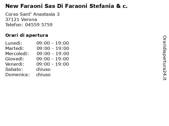 New Faraoni Sas Di Faraoni Stefania & c. a Verona: indirizzo e orari di apertura