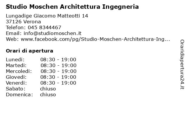 Studio Moschen Architettura Ingegneria a Verona: indirizzo e orari di apertura