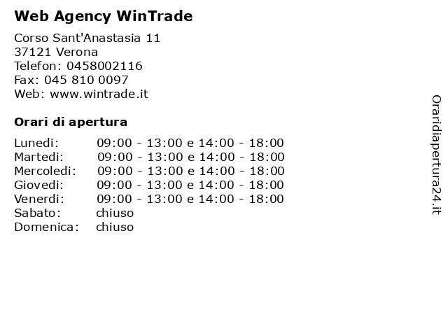 Web Agency WinTrade a Verona: indirizzo e orari di apertura