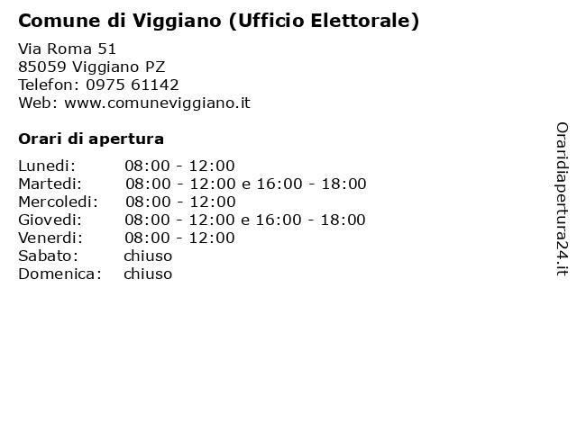 Comune di Viggiano (Ufficio Elettorale) a Viggiano PZ: indirizzo e orari di apertura