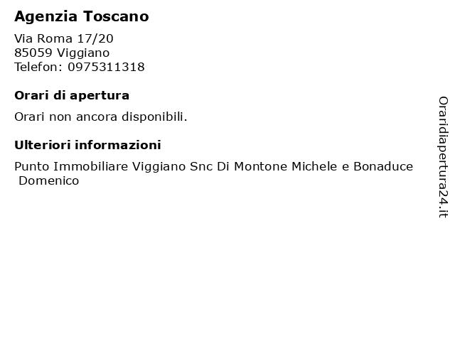 Agenzia Toscano a Viggiano: indirizzo e orari di apertura