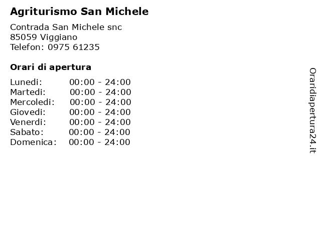 Agriturismo San Michele a Viggiano: indirizzo e orari di apertura