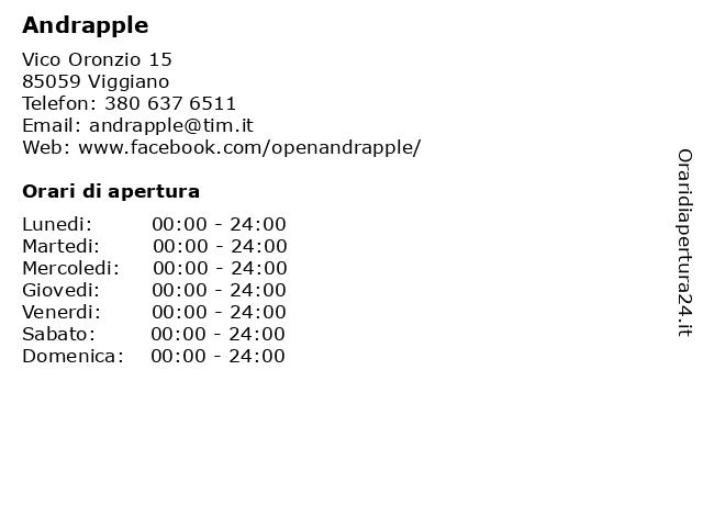 Andrapple a Viggiano: indirizzo e orari di apertura