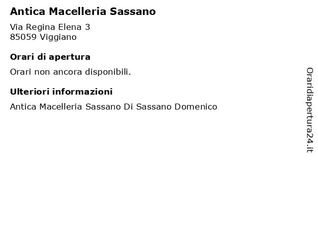 Antica Macelleria Sassano a Viggiano: indirizzo e orari di apertura