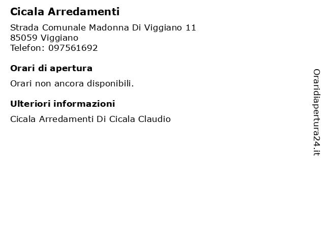Cicala Arredamenti a Viggiano: indirizzo e orari di apertura