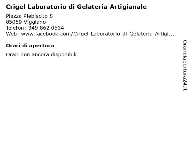 Crigel Laboratorio di Gelateria Artigianale a Viggiano: indirizzo e orari di apertura