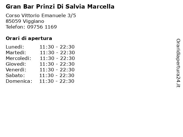 Gran Bar Prinzi Di Salvia Marcella a Viggiano: indirizzo e orari di apertura