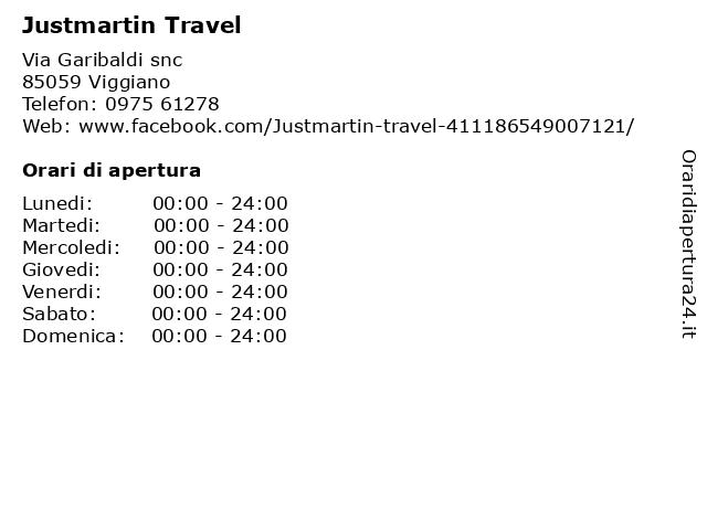 Justmartin Travel a Viggiano: indirizzo e orari di apertura