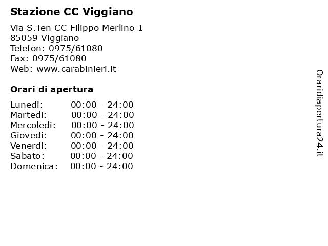 Stazione CC Viggiano a Viggiano: indirizzo e orari di apertura