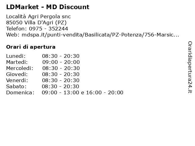 LDMarket - MD Discount a Villa D'Agri (PZ): indirizzo e orari di apertura