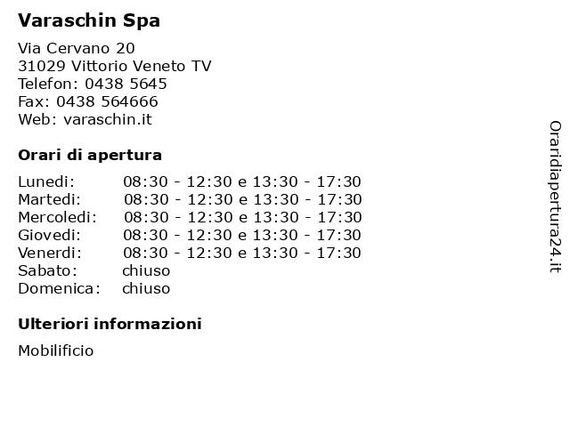 Varaschin Spa a Vittorio Veneto TV: indirizzo e orari di apertura