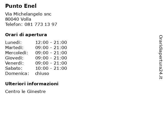 Punto Enel a Volla: indirizzo e orari di apertura