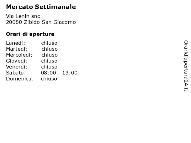 Mercato Settimanale a Zibido San Giacomo: indirizzo e orari di apertura